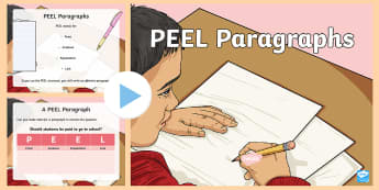 how to write a link in a peel paragraph