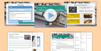 Computing: Password Protection Lesson Pack - KS3, Computing, ICT, ESafety, Safety, Passwords, Protection, Phishing, Hacking, Responsible, Interne