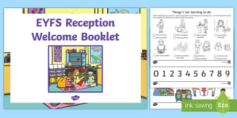 EYFS Reception Welcome Pack - Back to School EYFS Activities
