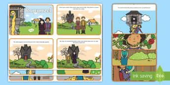 Rapunzel Story Cards - rapunzel, story, cards, story cards, card