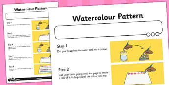 Activity Sheet Watercolour Pattern - activity, sheet, watercolour, worksheet