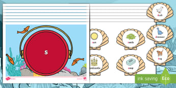 Phase 2 Shell Phonics Sorting Game - Twinkl Originals, Fiction, stan, under the sea, seaside, beach, oceans, starry-eyed stan, Phonics, L