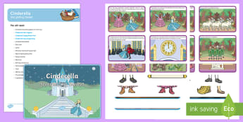 Cinderella Storytelling Basket - EYFS, story, reading, literacy, books, reading area, reading buddies, story props