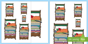 Measuring Many Mattresses Activity - EYFS, Early Years, KS1, Key Stage 1, The Princess and the Pea, Traditional Tales, Maths, Mathematics