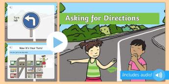 Ζητώντας οδηγίες παρουσίαση στα αγγλικά - επικοινωνία, παρουσίαση, οδηγίες,δρόμος, δρόμοι, οδηγί