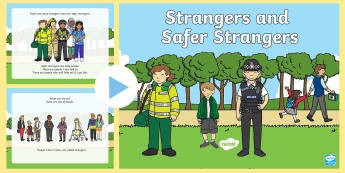 Strangers and Safer Strangers PowerPoint  - Hansel and Gretel, Strangers, Safer strangers, safe, help
