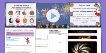 Sparks in the Sky Bonfire Night Art Texture Painting Activity and PowerPoint Pack - Sparks In The Sky, KS1, EYFS, texture, Painting, Bonfire Night, Guy Fawkes, Fireworks, colour, art