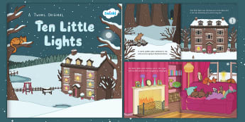 Ten Little Lights eBook - twinkl originals, fiction, counting, numbers to 10, winter, christmas, woodland, animals