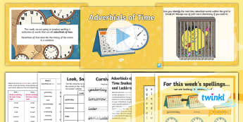 PlanIt Spelling Year 5 Term 3A W3: Adverbials of Time Spelling Pack - Spellings Year 5, Y5, adverbs, adverbials, weeks, weekly, SPaG, GPS, spell, lists, KS2, practise, lo