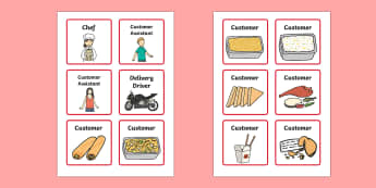 Chinese Takeaway Role Play Badges - ESL Chinese Takeaway Resource