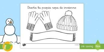 Diseña la ropa ropa invernal - ropa, abrigar, diseñar, creativo, creatividad, invierno,. invernal,Spanish