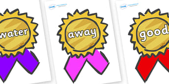 Next 200 Common Words on Award Rosettes - Next 200 Common Words on  - DfES Letters and Sounds, Letters and Sounds, Letters and sounds words, Common words, 200 common words