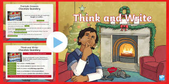 Year 5 Christmas Think and Write Morning Starter Activity PowerPoint - slow writing, writing expectations, spag, independent writing, y5, relative clauses, adverbs of poss, christmas morning starter, christmas morning activity, Christmas Morning Engl