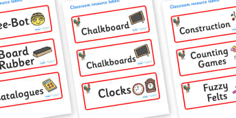 Rooster Themed Editable Additional Classroom Resource Labels - Themed Label template, Resource Label, Name Labels, Editable Labels, Drawer Labels, KS1 Labels, Foundation Labels, Foundation Stage Labels, Teaching Labels, Resource Labels, Tray Labels,