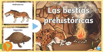 Presentación: Animales prehistóricos en imágenes - animales prehistóricos, Prehistoria, androsarcus, chalicotherium, daeodon, glyptodon, indicotherium