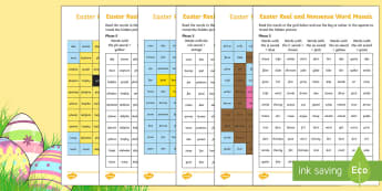 Easter Phonics Phase 5 Mosaic Activity Sheet - KS1, EYFS, Year 1, Year 2, Reception, English, Reading, Phonics, Letters and Sounds, Easter, Celebra