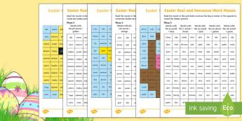 Easter Phonics Phase 5 Mosaic Worksheet / Activity Sheet - KS1, EYFS, Year 1, Year 2, Reception, English, Reading, Phonics, Letters and Sounds, Easter, Celebra
