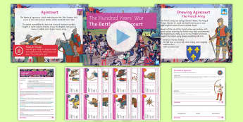 The Hundred Years' War: The Battle of Agincourt Lesson Pack - Longbow, Knight, Hudred Years War, Henry V, Charles d'Albret, Mud