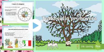 Tutto sulla Primavera Presentazione Powerpoint - primavera, presentazione, powerpoint, power, point, festività, festa della, mamma, del, papa, liver