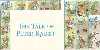 The Tale of Peter Rabbit Display Borders - peter rabbit, display