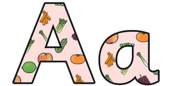Growth and Nutrition Small Lowercase Display Lettering - growth and nutrition, growth and nutrition lettering, growth and nutrition display letters, ks2