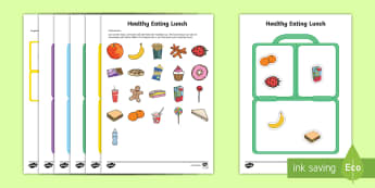 Workstation Pack: Healthy Lunch Activity - TEACCH, workstation, autism, ASD, healthy foods, ASDAN, lunch, dinner