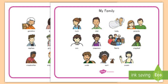 My Family Word Mat - family, word, mat, activity, social studies, differences, key words, vocabulary, all about me