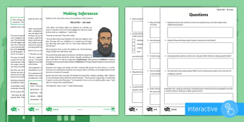 Eid al Fitr Inference Go Respond  Activity Sheets -  read, respond, infer, Muslim, Islam, celebration, religion