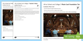 Life at School and College 2 Foundation Tier Photo Card Activity Spanish - Spanish, speaking, practice, oral, photo, card, picture, illustration, practice, revision, skills, f