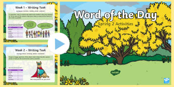Year 2 Spring 2 Word of the Day PowerPoint - Spellings, Patterns, Rules, English, Literacy