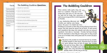 The Bubbling Cauldron Differentiated Reading Comprehension Activity
