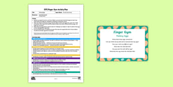 EYFS Peeling Eggs Finger Gym Plan and Prompt Card Pack - On the Farm, eggs, chicken, egg shell, farms, funky fingers, finger gym,