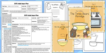 Making Porridge with the Three Bears EYFS Adult Input Plan and Resource Pack