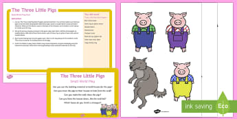 EYFS The Three Little Pigs Small World Play Idea and Printable Resource Pack - The Three Little Pigs, tuff tray, tuff spot, big bad wolf, home, homes, house, houses, bricks, straw
