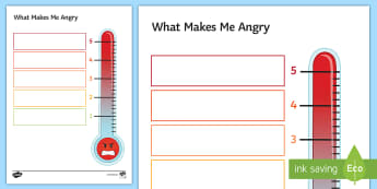 What Makes Me Angry Activity Sheet - anger, management, Behaviour, classroom Management, Pastoral