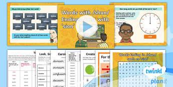 PlanIt Y4 Term 1A W6: 'sion' Endings Spelling Pack