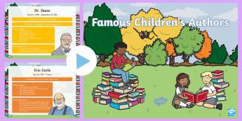Famous Children's Authors PowerPoint - World Book Day, Children's Books, Children's Book Author, PowerPoint, Literature, Literacy