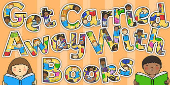 Get Carried Away with Books Display Lettering - display lettering