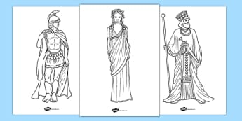 Ancient Greek Figures Colouring Pages - ancient greek, figures, colouring, colour, sheet