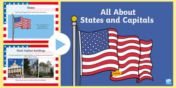 All About States and Capitals PowerPoint - States and Capitals, USA States, US States, United States, US Capitals, USA Capitals, US Capital Cit