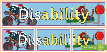(Dis) Ability Display Banner - Awareness, disability awareness, special needs, discrimination, ability