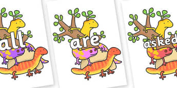 Tricky Words on Reptiles to Support Teaching on The Great Pet Sale - Tricky words, DfES Letters and Sounds, Letters and sounds, display, words