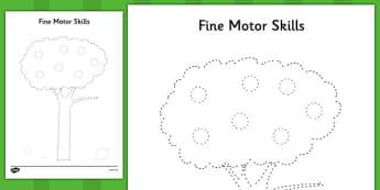 Tree Fine Motor Skills Activity Sheet Pack - tree, fine motor skills, activity, worksheet