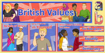 British Values Display Pack - British Values, Display, Citizenship, KS 3, PSHE, OFSTED, DofE