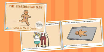 The Gingerbread Man eBook Romanian Translation - traditional