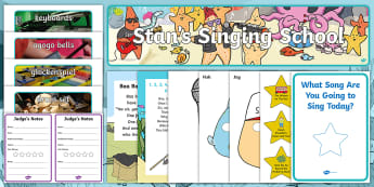 Starry-Eyed Stan's Singing School Role-Play Pack - Starry-Eyed Stan, Expressive Arts and Design, Twinkl Originals, EA&D, E&UMM, music, singing, rhymes,