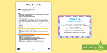 EYFS Estimating Jar Counting Finger Gym Plan and Prompt Card Pack - maths, counting, 1 to 1 Correspondence,  tweezers, funky fingers,