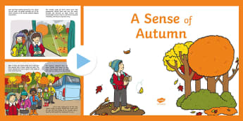 Exploring My World - A Sense of Autumn Story PowerPoint - aistear, book, seasons, forest, wood, woodland, squirrel, trip, Irish, blackberries, school trip, co