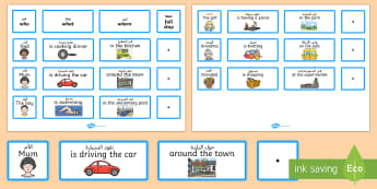 Everyday Sentence Building Cards EAL Translation - Everyday Sentence Building Cards EAL - sentence, building, cards, sentance, senetnce building, seten
