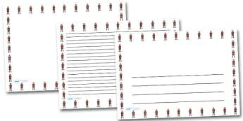 Refugee Boy Landscape Page Borders- Landscape Page Borders - Page border, border, writing template, writing aid, writing frame, a4 border, template, templates, landscape